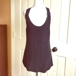 Sanctuary Black Silk Racerback Studded Tank Top